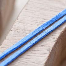 Cordon Suédine 3mm Lanière Bleuet x 3m