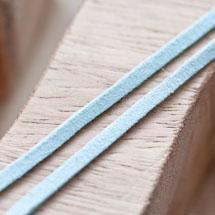 Cordon Suédine 3mm Lanière Bleu vert x 3m