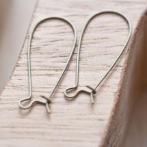 Crochet d'oreille 33mm Goutte Bronze vieilli x 10