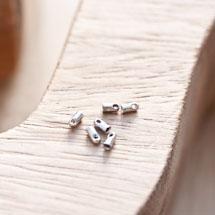 Embout pour cordon à coller 1.2mm Argent gris x 30