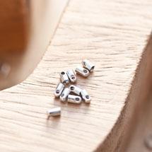 Embout pour cordon à coller 2.1mm Argent gris x 16