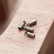 Embout pour cordon à coller 8x2.8mm Bronze vieilli x 20
