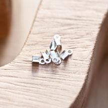 Embout pour cordon à pincer 3x6mm Plat Argenté gris x 51pcs