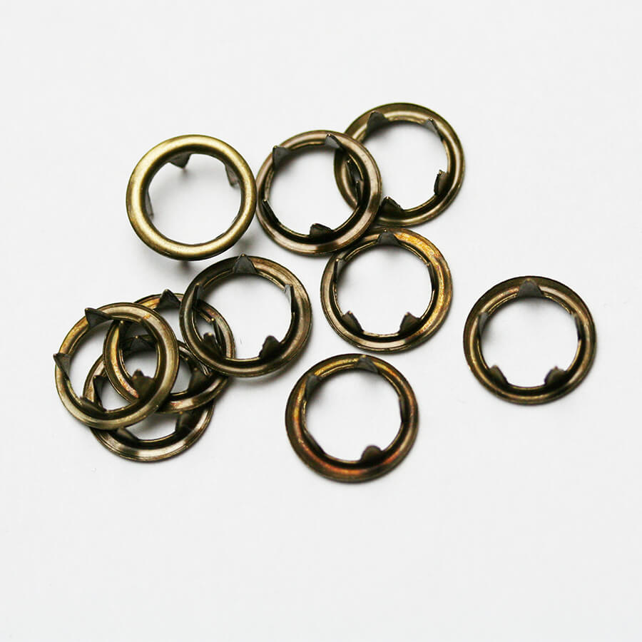 Fixations pour Bouton Pression 11mm Bronze vieilli x 10