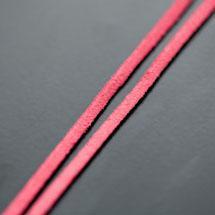 Lanière Imitation Suédine 3mm Rose intense x 3m