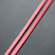 Lanière Imitation Suédine 3mm Saumon x 3m
