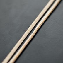 Lanière Suédine 3mm Jaune Paille x 3m