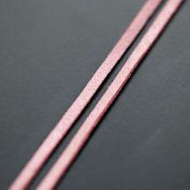 Lanière Suédine 3mm Rose Paillettes x 3m