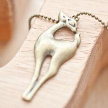 Pendentif Biche en coeur Bronze vieilli x 1