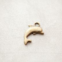 Pendentif Dauphin Bronze vieilli x 6pcs
