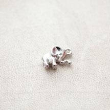 Pendentif Élephant 17mm Argenté gris x 1pc