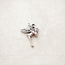 Pendentif Fée Clochette 23mm Argent vieilli x 5pcs
