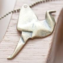 Pendentif Oiseau Origami Bronze vieilli x 2