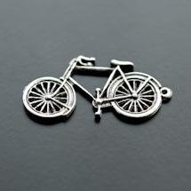 Pendentif Vélo Argent vieilli x 5