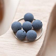 Perle de gemme Ronde 8mm Dépoli Noir x 8