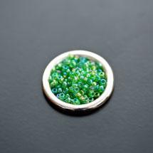 Perle de Rocaille 2mm Verre Vert Gazon Transparent x 174pcs