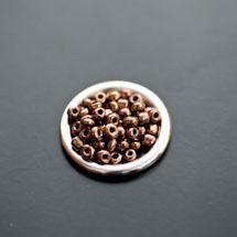 Perle de Rocaille 3mm Verre Doré foncé x 109pcs