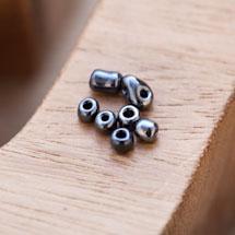 Perle de Rocaille 4mm Verre Noir Nacré x 200