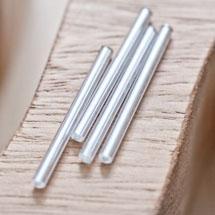 Perle de rocaille Tube 31mm Argenté x 50