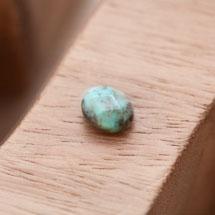 Perle en Agate Ovale 8x10mm Facettes Vert x 2