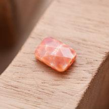 Perle en Agate Rectangle 10x14mm Facettes Rouge x 1