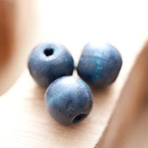 Perle en bois Ronde 14mm Bleu foncé x 16