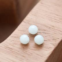 Perle en Corail Rond 6mm Vert Pastel x 7