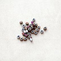 Perle en Hématite 3mm Carré Boulon Couleur Mixte x 27pcs