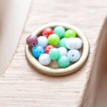 Perle en Jade 4mm Couleurs mixtes x 16