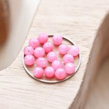 Perle en Jade Ronde 4mm Corail x 20