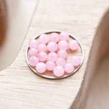 Perle en Jade Ronde 4mm Rose x 18