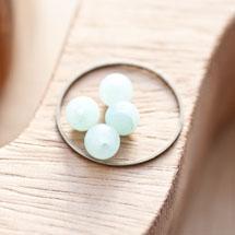 Perle en Jade Ronde 6mm Vert aventurine x 12