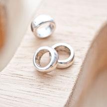 Perle en métal Anneau 11mm Argent vieilli x 5