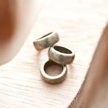 Perle en métal Anneau 11mm Bronze vieilli x 5