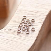 Perle en métal Anneau 3.5mm Argent gris x 18