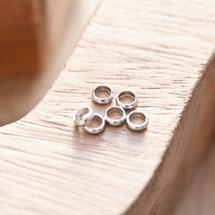 Perle en métal Anneau 5mm Argent gris x 18
