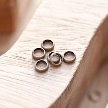 Perle en métal Anneau 6mm Bronze vieilli x 18