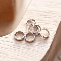 Perle en métal Anneau 8mm Argent gris x 14