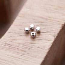 Perle en Métal Boulon 3mm Argent gris x 20