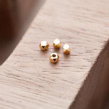 Perle en métal Boulon 3mm Doré x 20pcs