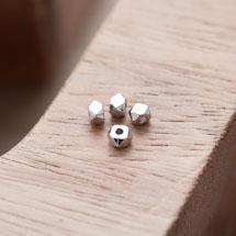 Perle en Métal Boulon 4mm Argent gris x 20