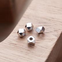 Perle en Métal Boulon 5mm Argent gris x 20