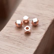 Perle en Métal Boulon 5mm Doré Rose x 20