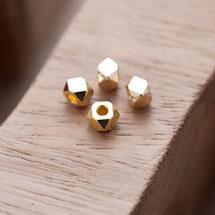 Perle en Métal Boulon 5mm Doré x 20
