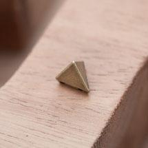 Perle en Métal Connecteur Pyramide Triangle Bronze vieilli x 10