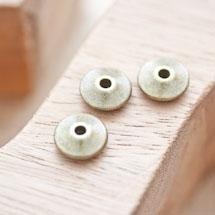 Perle en métal Disque 11mm Toupie Bronze vieilli x 5