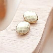 Perle en métal Ovale 14x11mm à facettes Bronze vieilli x 2