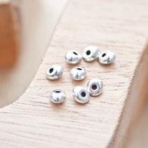 Perle en métal Ovale 6x5mm Argent vieilli x 18