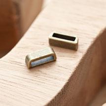Perle en métal Rectangle 13.5x5mm Coulissant Bronze vieilli x 6