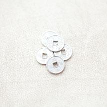 Perle en métal Rond 10mm Pièce Argenté gris x 20pcs